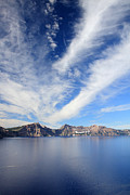 Clean Water Posters - Crater Lake sky Poster by Pierre Leclerc