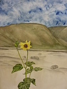 Craters Of The Moon Sunflower Print by Estephy Sabin Figueroa