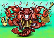 Zydeco Framed Prints - Crawfish Band Framed Print by Kevin Middleton