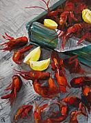 Crawfish Boil Framed Prints - Crawfish Boil Framed Print by Cari Humphry