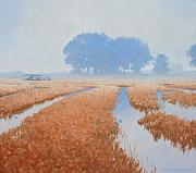 Crawfish Paintings - Crawfish in the Mist by Kevin Lawrence Leveque