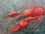 Louisiana Crawfish Posters - Crawfish Poster by Todd A Blanchard