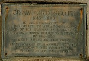 Randolph County Prints - Crawford Scott Historical Marker Print by Randy Bodkins