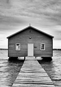 Crawley Framed Prints - Crawley Edge Boatshed  Framed Print by Daniel Carr