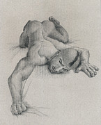 Nude Drawings Originals - Crawling by Mon Graffito