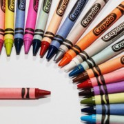Crayola Prints - Crayola Plus One Print by Valerie Morrison