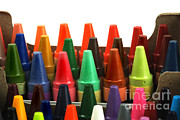 Crayons Photos - Crayon Box by Photo Researchers, Inc.