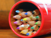 Still Life Photographs Prints - Crayons Print by Graham Taylor