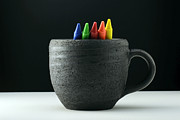Crayon Framed Prints - Crayons in a Coffee Cup Framed Print by Andrew Campbell