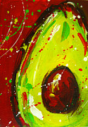Yellow And Brown Posters - Crazy Avocado 3 Poster by Patricia Awapara