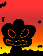 Apocalyptic Digital Art - Crazy Bomb Silhouette by Jera Sky