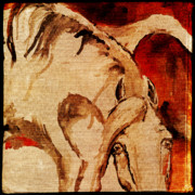 Wild Horse Digital Art Prints - Crazy horse 1 Print by Angel  Tarantella