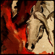 Wild Horse Digital Art Prints - Crazy Horse 3 Print by Angel  Tarantella