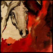 Wild Horse Digital Art Prints - Crazy horse 4 Print by Angel  Tarantella