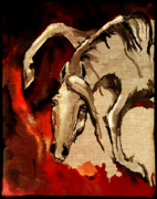 Wild Horse Digital Art Prints - Crazy horse 6 Print by Angel  Tarantella