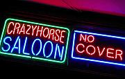 Neon Signs Photos - Crazy Horse Saloon by Elizabeth Hoskinson
