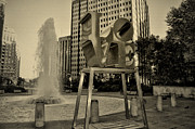 Love Park Framed Prints - Crazy Little Thing Called Love Framed Print by Bill Cannon