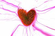 Abstract Hearts Digital Art - Crazy love by Linda Sannuti