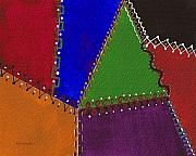 Patchwork Quilts Prints - Crazy Quilt Print by Nan Wright