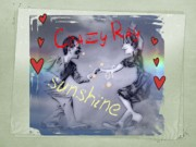 Sunshine Mixed Media Framed Prints - Crazy Rays of Sunshine Framed Print by Larisa Isaeva