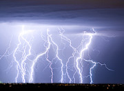 Lightning Bolts Metal Prints - Crazy Skies Metal Print by James Bo Insogna