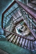 Haunted House Art - Crazy Stairs by Nathan Wright