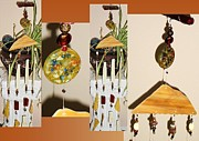 Cafe Glass Art - Creamy Cappuchino-Moka-Java Orgone Feng Shui Wind Chime by Karen Martel