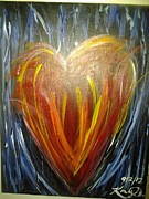 Prophetic Art Painting Originals - Create In Me A Clean Heart by Kaylania Chapman