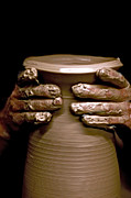 Throw Photo Prints - Creation at the Potters Wheel Print by Rob Travis
