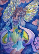 Religious Art Painting Originals - Creation Blue by Heather  Whitney