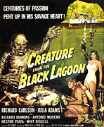 1950s Movies Prints - Creature From The Black Lagoon, Richard Print by Everett