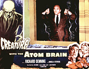 Lobbycard Framed Prints - Creature With The Atom Brain, The Framed Print by Everett