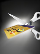 Overspending Metal Prints - Credit Card Debt Metal Print by Tek Image