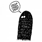 Ghost Drawings Prints - Creep Creep Creep Ghost Print by Karl Addison