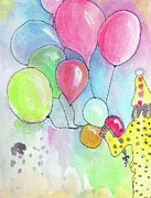 Balloons Mixed Media Originals - Creeper by Retha Carpenter