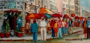 Montreal Street Life Paintings - Creme De La Creme Cafe by Carole Spandau