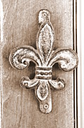 Doorbell Framed Prints - Creole Knocker Framed Print by Hannah Miller