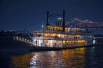 Mississippi River Scene Posters - Creole Queen Riverboat Poster by Bonnie Barry