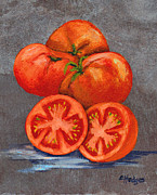 Vegetable Garden Prints - Creole Tomatoes Print by Elaine Hodges