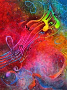 Music Theme Paintings - Crescendo by Bonny Roberts