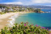 Scenery Tapestries Textiles Posters - Crescent Bay Laguna Beach California Poster by Utah Images