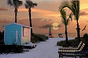 Siesta Key Prints - Crescent Beach Access Print by Shawn McLoughlin