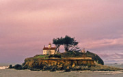 Attraction. Battery Point Lighthouse Prints - Crescent City Lighthouse Print by Nancy Hoyt Belcher