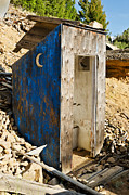 Outhouses Photos - Crescent Moon Outhouse by Sue Smith