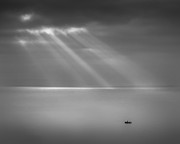 Channel Metal Prints - Crespecular Rays Over Bristol Channel Metal Print by Paul Simon Wheeler Photography