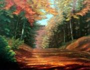 Fall Color Painting Posters - Cressmans Woods Poster by Otto Werner