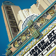 Signage Paintings - Crest Theater by Anthony Ross