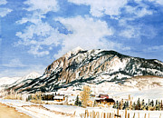 Crested Butte Framed Prints - Crested Butte Mountain Framed Print by Barbara Jewell