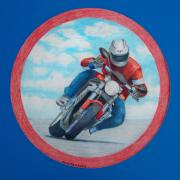 Bike Drawings - Cresting the Hill - Agusta Brutale by Brian  Commerford