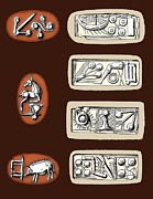 Pre-19th Prints - Cretan Symbols, 5th To 6th Centuries Bc Print by Sheila Terry